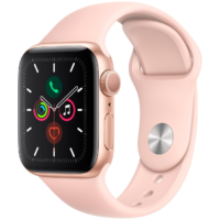 Часы Apple Watch Series 5 40mm Gold Aluminum Case Pink Sand Sport Band