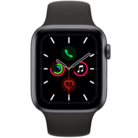 Часы Apple Watch Series 5 44mm Space Gray Aluminum Case Black Sport Band