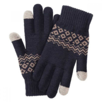 Перчатки Xiaomi Touch Screen Winter Wool Gloves (Черный)