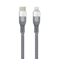 USB-C кабель REMAX Super PD Fast Charging Cable Lightning 8 pin RC-151cl (серебро)